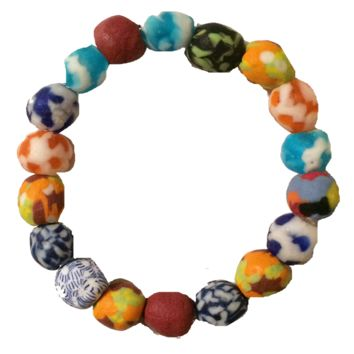 Project Bead Beaded Layering Stretch Bracelets - Handmade in Ghana to Support a Student's Education