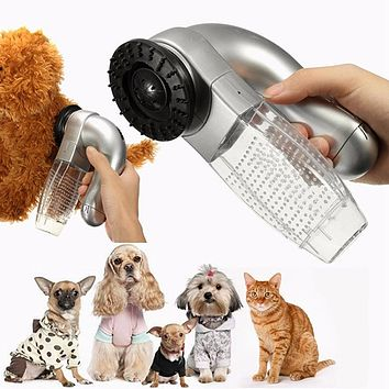 Pet Fur Trimmer Remover With A Grooming Brush