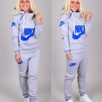 PEAPON Nike' Casual Hoodie Sweater Pants Trousers Set Two-Piece