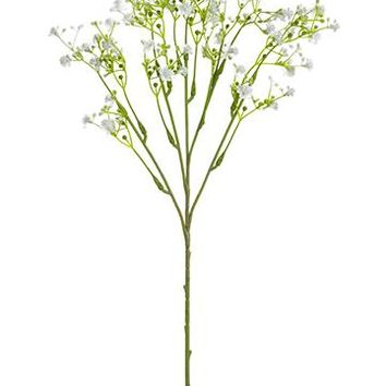 "White Artificial Baby's Breath Flowers - 19"" Tall"