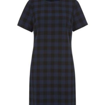 Green Gingham Check Tunic Dress