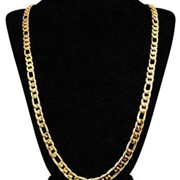 18k Gold Figaro Chain Necklace
