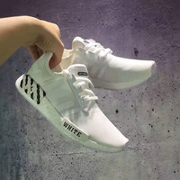 Adidas :NMD OFF WHITE Fashion Trending Running Sports Shoes