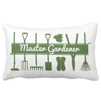 Master Gardener Simple Modern Forest Green Custom Lumbar Pillow