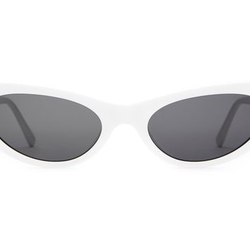 Crap Eyewear - Ultra Jungle White Sunglasses / Grey Lenses