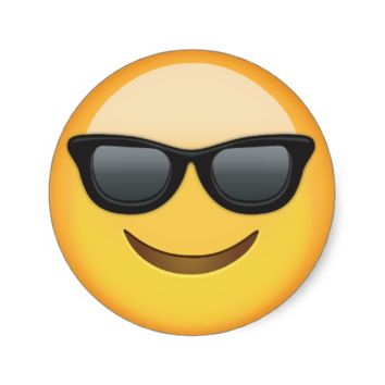 Smiling Face With Sunglasses Emoji Round Stickers