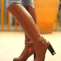Over The Knee High Heels Boots Plus Size