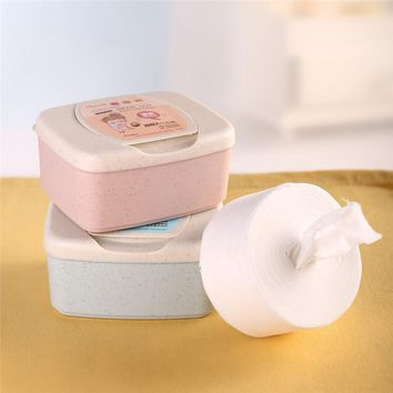 300pcs Draw-out Facial Makeup Cotton Pads Face Cleansing Puff Nail Polish Remover Removable Cosmetic Skin Care Pads with Case