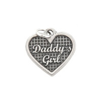 Sterling Silver One Sided Daddy's Girl Charm or Pendant
