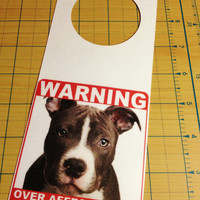 Pit Bull Dog Sign and Dry Erase Board