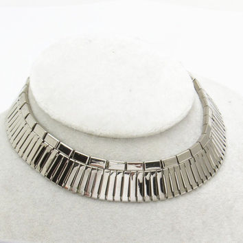Wide Collar Necklace Egyptian Choker Vintage Jewelry N7260