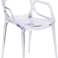 Nesting Transparent Stacking Indoor / Outdoor Side Chair