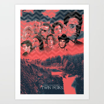 Twin Peaks Alternative Poster Art Print by dakotarandallartshop