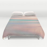 SUNRISE TONES Duvet Cover by Catspaws | Society6