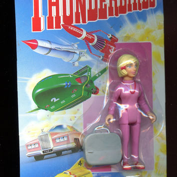 Vintage, Thunderbirds Lady Penelope w/suitcase Action Figure by Matchbox 1993,new Unopened