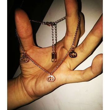 GUCCI Fashion New Letter Chain Personality Bracelet Women