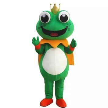 Frog Prince Mascot Costume Quality Halloween Costumes