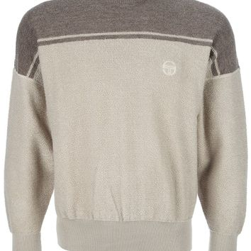 Sergio Tacchini Vintage contrast shoulder sweater