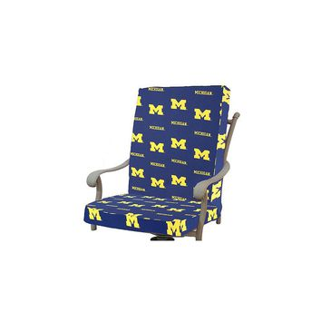 College Covers Ncaa Michigan Outdoor Dining Chair Cushion