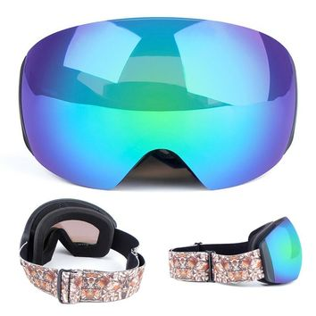 Men Women's Winter Sunglasses Snowboard Ski Goggles Big Double Anti-fog Ski Mask Snowboard Glasses For Snowmobile Skiing Goggles