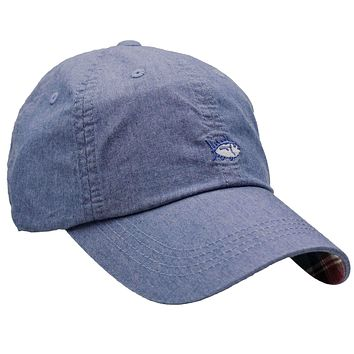 Chambray Madras Skipjack Hat in Blue by Southern Tide
