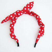 Polka dots headscarf, headband, choose your color