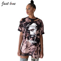 2 Pac Hip-hop Short Sleeve T-shirt
