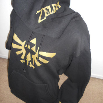 back for limited time BLACK Legend of Zelda pullover hoodie adult