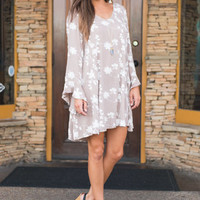 Always Agreeable Dress, Taupe