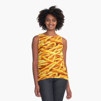 'Fries' Contrast Tank by phantastique