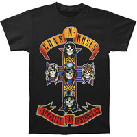 Guns N Roses Men's  AFD Cross T-shirt Black