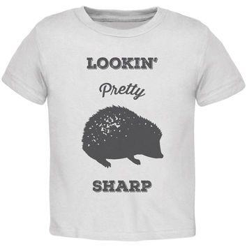 PAWS - Hedgehog Lookin' Pretty Sharp White Toddler T-Shirt