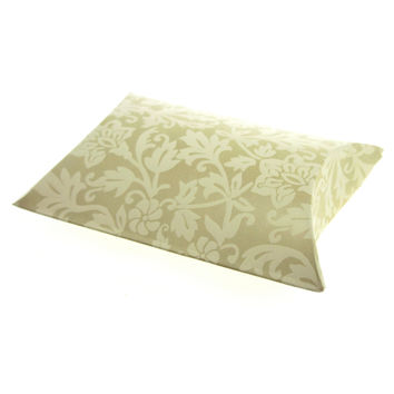 Damask Embossed Favor Boxes, 4-1/2-inch, 12-pack, Pillow