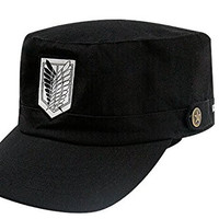 Relaxcos Attack on Titan Wings of Liberty Logo Sun Hat Flat-topped Caps Cosplay
