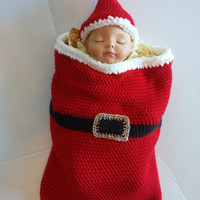 Santa Baby Cocoon and Hat