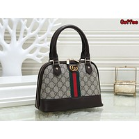 Gucci Newest Trending Women Stylish Leather Handbag Tote Shoulder Bag Satchel Coffee