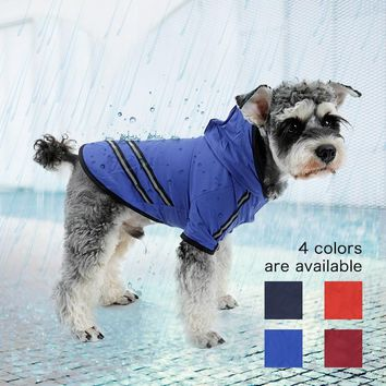 Dog Raincoat Nylon Pet Dog Cloth Puppy Coat for Dogs Cat Raincoat  Dog Rain Poncho  Outdoor Apparel Clothes with Safe Reflective