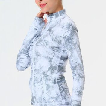 Yoga jacket eagle rock yoga Zipper Long Sleeve Yoga Jacket sport wear Stand colla exercise, running, fitness and dancing clothes