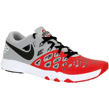 Nike Train Speed 4 AMP NCAA Ohio State Buckeyes Limited Edition Shoes Size 9.5 - University Red & Gray