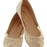 ModCloth Gossamer Girls Flat in Almond