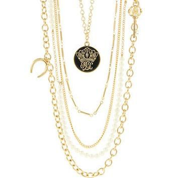 Lauren Ralph Lauren Five Row Charm Necklace