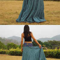 Boho Long Skirt   .....Long Skirt  ...Color Blue