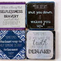 Divergent- Veronica Roth -Literary Quote Coasters.