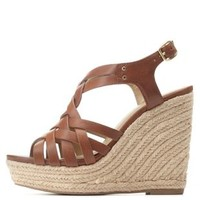 Strappy Slingback Espadrille Wedge Sandals