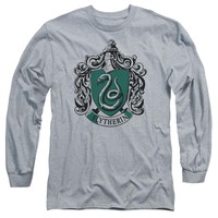 Harry Potter - Slytherin Crest Long Sleeve Adult 18/1 Officially Licensed Shirt