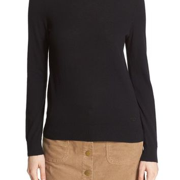 Tory Bucth 'Iberia' Button Back Cashmere Sweater | Nordstrom