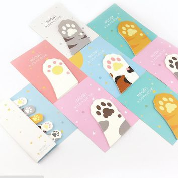 New Cute Meow Cat Paw Memo Notepad Notebook Memo Pad Self-Adhesive Sticky Notes Bookmark Gift Stationery H2099