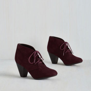 Minimal Have I Got Shoes for You! Bootie in Mulberry