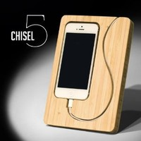 CHISEL 5 - Bamboo iPhone 5 Dock by iSkelter