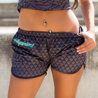 DailyDriven Women's Black Diamond Running Shorts